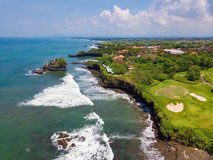 golf tanah lot Bali activités