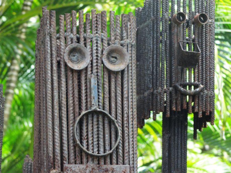 sculptures luz severino habitation clement martinique famille enfants