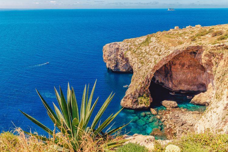 grotte bleue malte famille enfants
