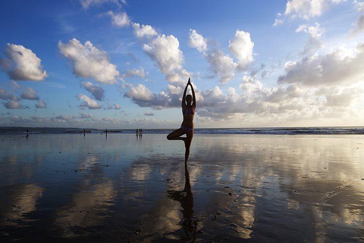 yoga plage activités Bali