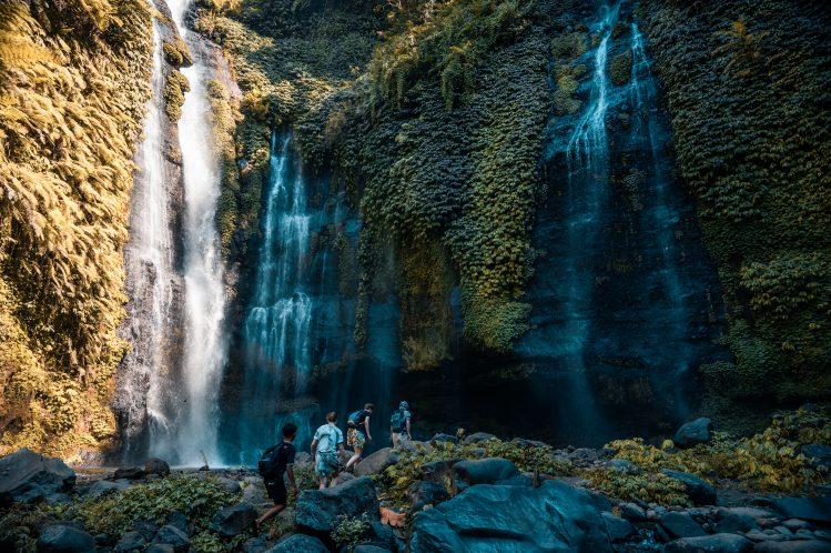 cascades sekumpul bali lombok randonnee