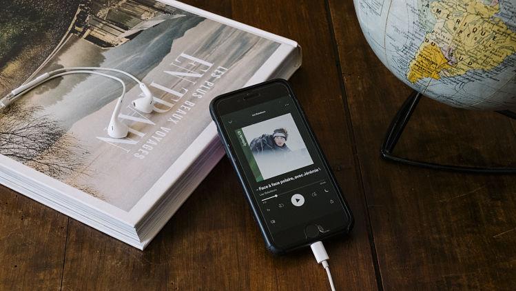 podcasts voyage inspiration écouteur