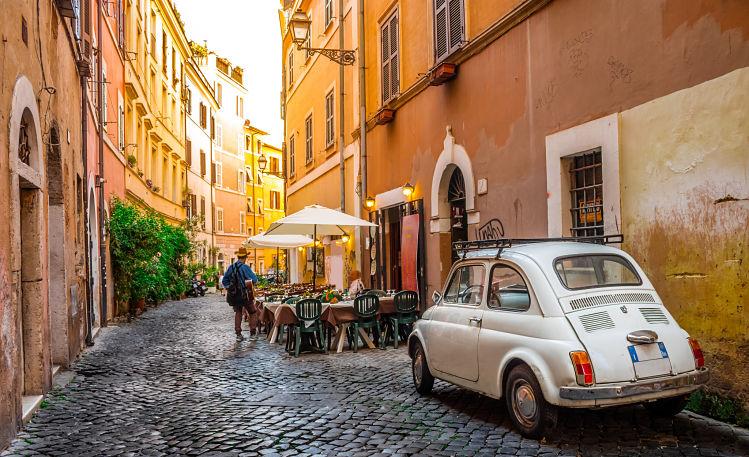 Italie Voyager films Rome Trastevere
