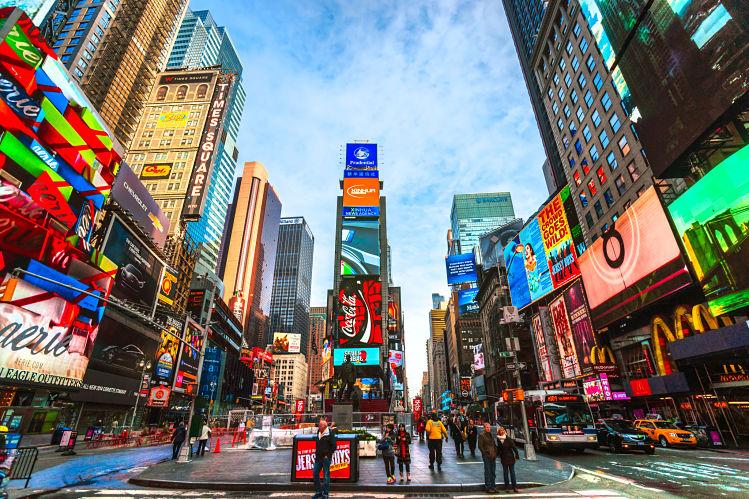 Times Square états-unis New York, livres